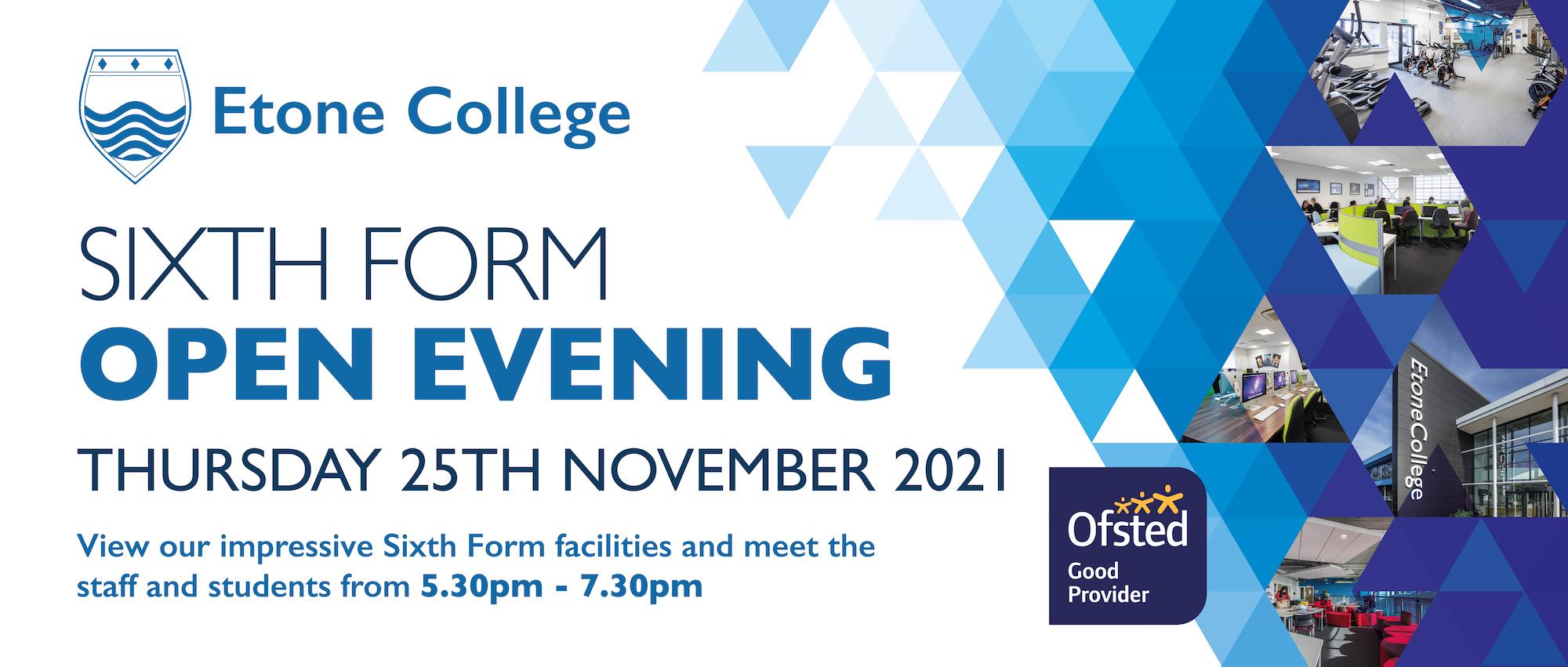 Etone College Open Evening Banner 2019 2